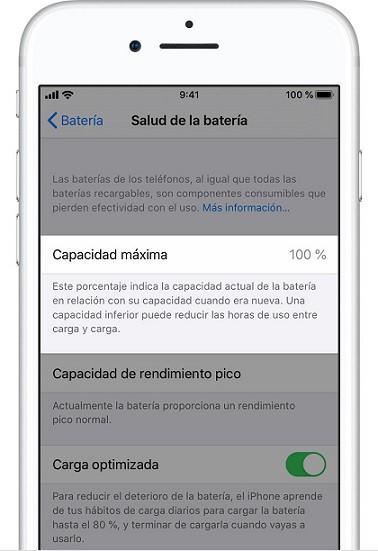 iPhone Salud Batería