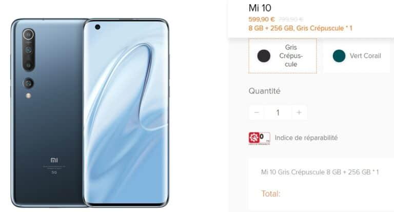 Indice reparacion Xiaomi MI 10