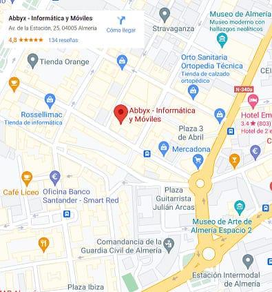 Localizacion Abbyx Almeria